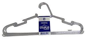 Cabide Cristal C/ 3 PCS LUBRARA