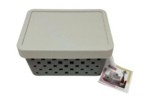 Organizador Quadratta C/Tampa Cores Sortidas 19x14x10 896