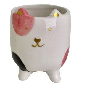 Vaso Cerâmica Cat CK5051 Rosa