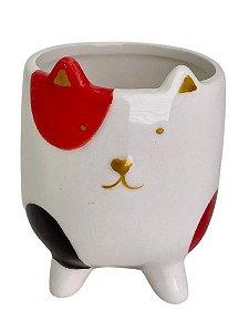 Vaso Cerâmica Cat CK5051 Vermelho