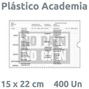 PLÁSTICO ACADEMIA 15X22 CM - 400 UN