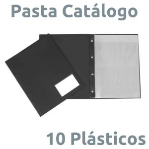 PASTA CATÁLOGO PVC 10 PLÁSTICOS