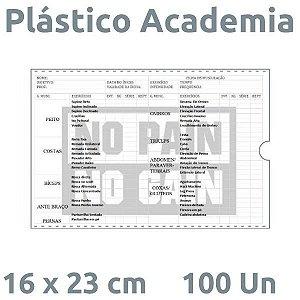 PLÁSTICO ACADEMIA 16X23 CM 100 UN