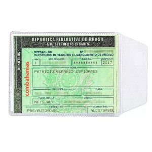 PLÁSTICO PARA DOC CARRO DUT 11 X 8 CM (100 UN)