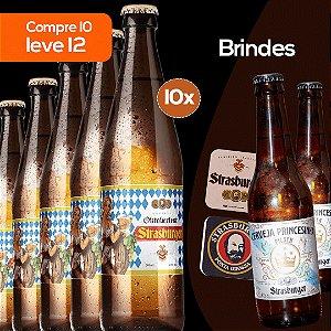 Cerveja artesanal kit 10/un - Oktoberfest 500ml + Grátis 2 Princesinha Pilsen 355ml