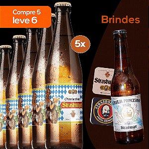 Cerveja artesanal kit 5/un - Oktoberfest 500ml + Grátis 1 Princesinha Pilsen 355ml