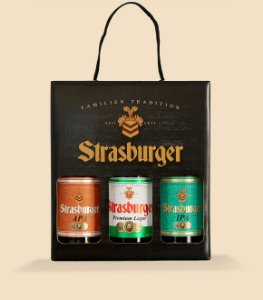 Cerveja artesanal kit Stras 11 - 3/un - Cerveja APA, Lager e IPA