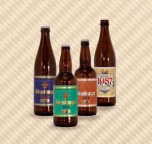 Cerveja artesanal kit Stras 3 - 4/un - APA, IPA, Weiss e Original 500ml - Strasburger