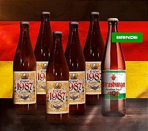 Cerveja artesanal kit Stras 16 - Kit 5/un Original 1987 + Brinde Premium Lager 500ml - Strasburger