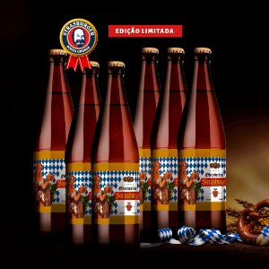 Cerveja artesanal kit Stras 16 - 6/un Oktoberfest 500ml - Strasburger