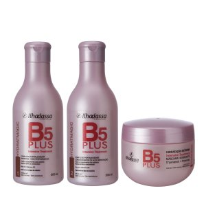 Kit Shampoo, Condicionador e Máscara B5 Plus Intensive Treatment - Alta Hidratação Rico em D pantenol - llhadassa