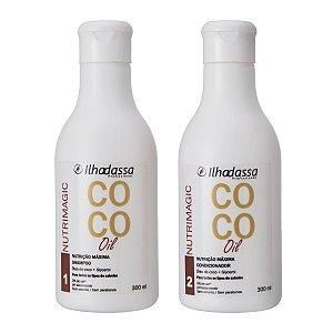 Kit Shampoo, Condicionador Óleo de Coco Nutrimagic - Nutrição Máxima - Ilhadassa