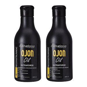 Kit Shampoo, Condicionador Óleo de Ojon Reconstrução e Reparação Máxima Ultraforce Especial 300ml - Ilhadassa