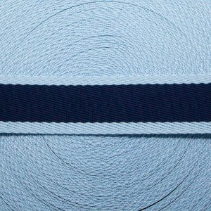 Fita Listras 40mm - Marinho/Azul bebê