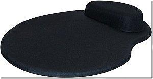 Mouse Pad Ergonômico Gota Tecido Preto 225x265mm