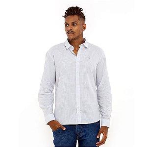 Camisa Calvin Klein branca quadriculada