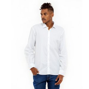 Camisa Calvin Klein branca bolinhas