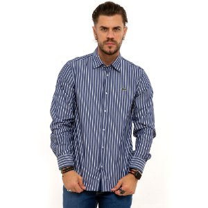 Camisa Lacoste azul listrada