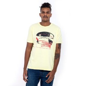 Camiseta Osklen amarelo claro surf