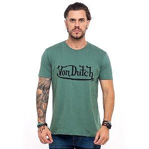 Camiseta Von Dutch logo signature verde