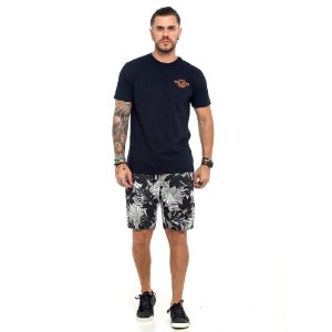 Camiseta Von Dutch logo garage preta