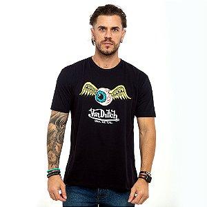 Camiseta Von Dutch Usa Eye logo preto