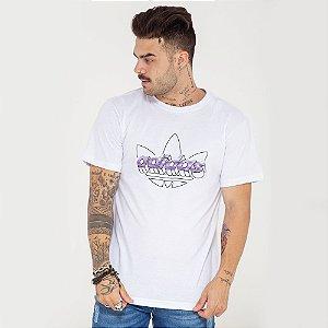 Camiseta Adidas Classic logo branca