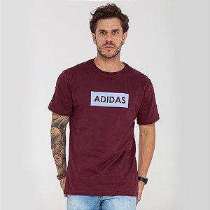 Camiseta Adidas logo box vermelha