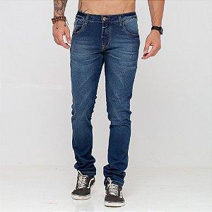 Calça Jeans Lacoste Logo Red escura
