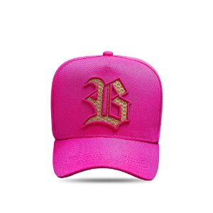 Boné Snapback All Pink Logo Diamond