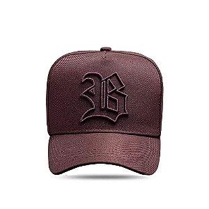 Boné Snapback Basic All Brown Dark Logo Contour