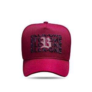 Boné Snapback Wine Logo Bege Inverted