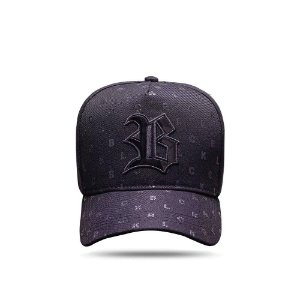 Boné Snapback All Black Letters