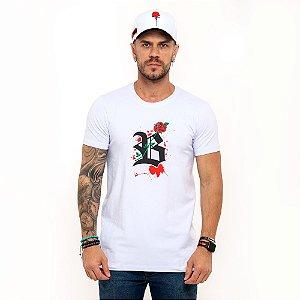 Camiseta Blck All White Rose