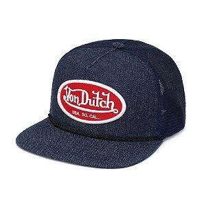 Boné Von Dutch Trucker Usa So Cal Jeans Vermelho
