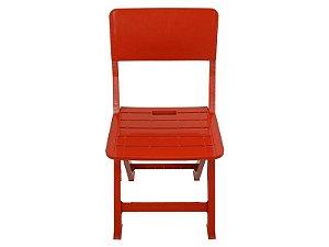 Cadeira Plástica Dobrável - Vermelha - EcoMobili