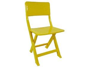 Cadeira Plástica Dobrável Pratika - Amarela - Ecomobili