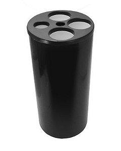 Lixeira para Copos com 5 Tubos - Copos de água e café - Preto - JSN