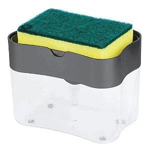Suporte De Esponja Com Dispenser Porta Detergente