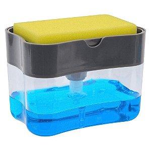 Dispenser de Detergente com Cavidade Para Esponja Bandeja de Sabão da Pia de Cozinha