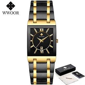 Relógio Premium Luxo Coleção 2021 Para Mulheres Preto com Dourado