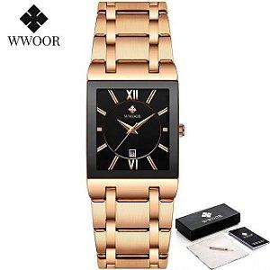 Relógio Premium Luxo Coleção 2021 Para Mulheres Rose com Preto