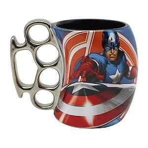 Caneca Soco Inglês Capitão America