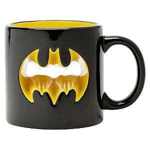Caneca 320ml Geek 3d Batman Logo Vazado