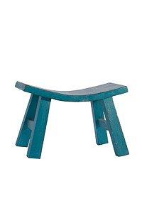 Banqueta curve azul