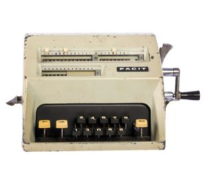 Máquina de calcular vintage
