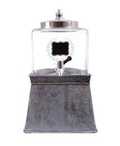 Suqueira com base metal anodizado
