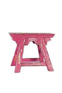 Banqueta rústica pink