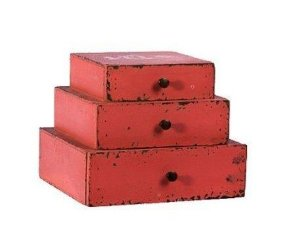 Caixa 3 gavetas laranja