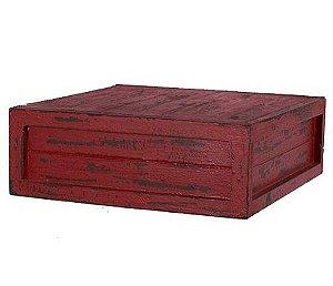 Caixa quadrada vermelha